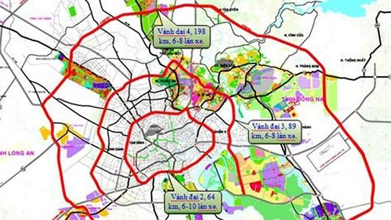 Quy hoạch chi tiết đường Vành đai 4 Tp.HCM nối các tỉnh lân cận